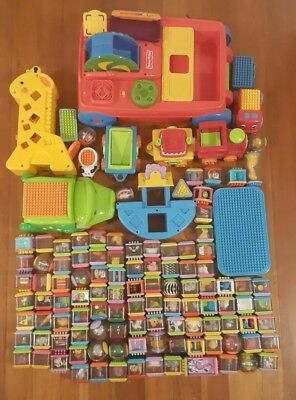 Fisher Price bundle Peek-a-Boo Blocks  & roll-a-rounds x105 + plus toys x5 sets