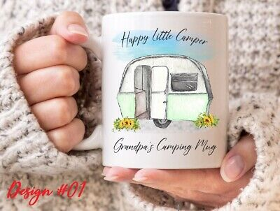 Caravan / Camping Mug - 6 to Pick from - Can be Personalised - Happy Camper Mug