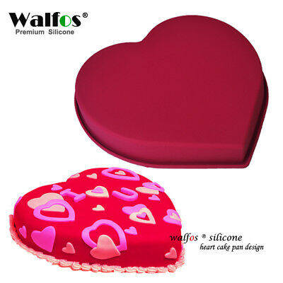 Love Heart Shaped Silicone Cake Mold cake pan Non-stick Baking Mousse Pan mold