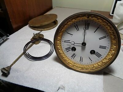 "Antique-French ""Japy"" Clock Movement-Ca.1890-Parts/Restore-#P948"