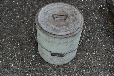 Vintage Kool Kan Galvanized Metal Water Cooler Pail Bucket Heavy Duty