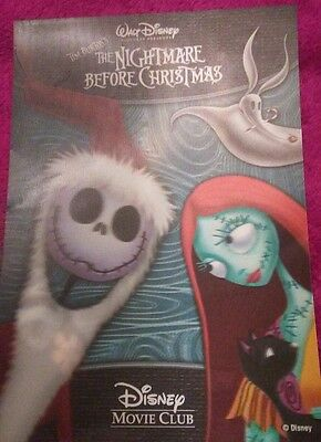 Disney Movie Club 3D Lenticular Card The Nightmare Before Christmas Rare