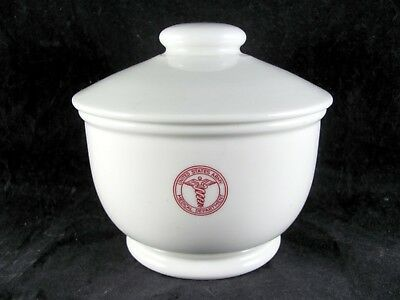 Shenango US Army Medical Dept Jumbo Boston Bullion Bowl, 14-1/2 oz, vtg