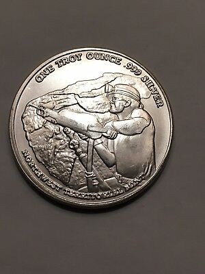 PAN AMERICAN 1 TROY OZ. .999 SILVER ROUND Northwest Territorial Mint NWTM