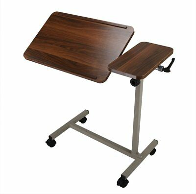 ObboMed MT-2250 Medical Adjustable Overbed Table with Tilt-Top with Wheels