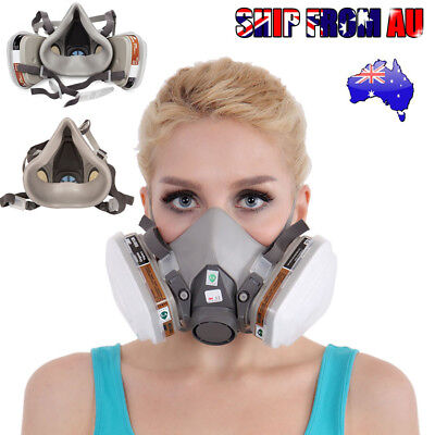 2X 6200 Half Face Dust Gas Mask reusable respirator Painting Spraying Filters