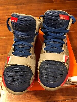 pretty nice 39152 cfff8 Nike Youth Boys KD Trey 5 III Size 6.5Y Blue Red And Gray Basketball Shoes