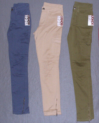 4d4b02f14 NWT Womens Bongo Junior's High Waist Skinny Cargo Pants -U Pick Color + Size