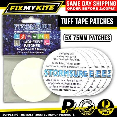 5 Tuff Tape Patch Kit Canvas Tear, Vinyl Aid, Swag, Tent, Annex, Stormsure Fix