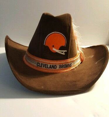 huge selection of c047f fde8e ... wholesale vintage cleveland browns football western cowboy hat size  small made in usa f0aab 16b11