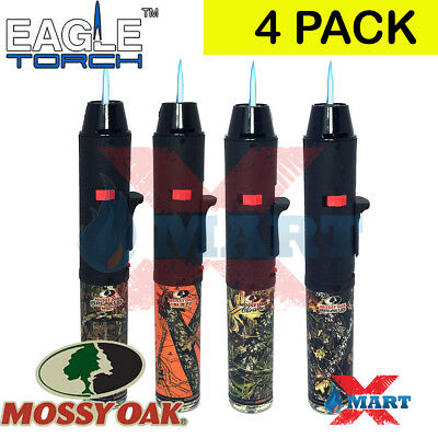 4 Pack Eagle Torch Pen Gun Torch Lighter Refillable Mossy Oak Camouflage Hunting
