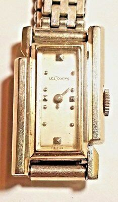 Vintage 1950s LeCoultre/Vacheron Comstantin Aaymmetric Watch In 14K Gold Running