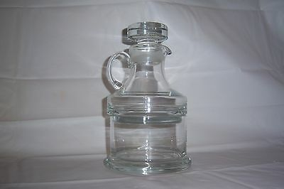 Vintage GLASS DECANTER JUG~stacking CREAM & SUGAR~Package-Cube-Granular Sugar