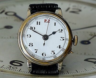 Awesome WW1 Doctors Watch, Pulsometer, Centre Seconds Used by Doctors & Surgeons