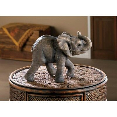 "NEW! Happy Elephant Figure/Polyresin/7 1/2"" High/Accent Plus"