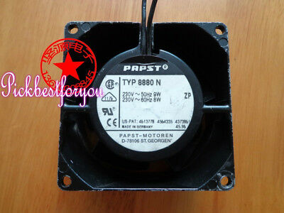 papst TYP 8880N AC230V 9/8W 50/60HZ 80X80X38MM 2wire All metal fan #M428B QL