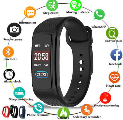 Waterproof Smart Watch Bracelet Wristband Fitness Tracker Sports For iOS Android