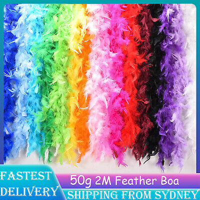 50g 2M Feather Boa Fluffy Party Costume Dress Up Craft Party Wedding Decorations