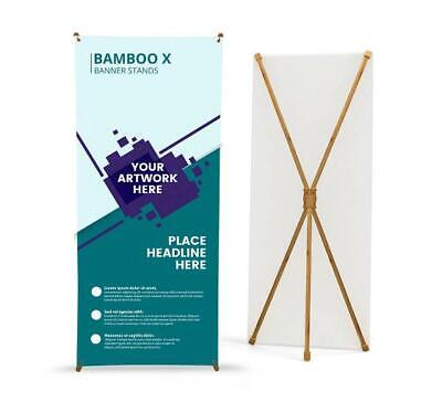 Bamboo X Banner Stand Tripod Trade Show Display Advertising Stand - 31'' x 71''