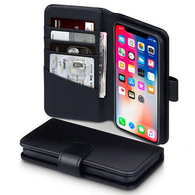 Terrapin Real Leather Wallet Case for New Apple iPhone X / XS - Black