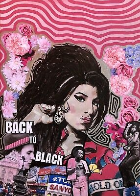 Amy Winehouse Art , Acrilic On Canvas , Back To Black