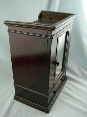 Victorian Apprentice Piece, Miniature Mahogany Wardrobe, Opening Door & Drawer