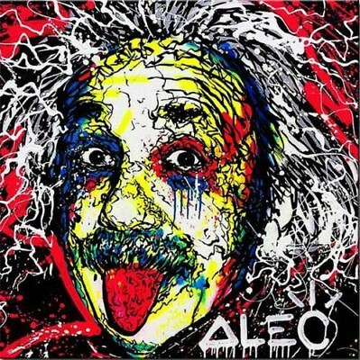 """Einstein "", Alec monopoly Handcraft Oil Painting on Canvas,24×24"""