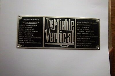 letter press miehle vertical  plate