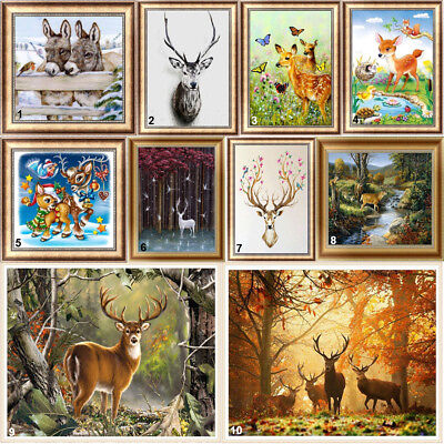 Deer Full Drill DIY 5D Diamond Painting Embroidery Donkey Cross Stitch Kits Art