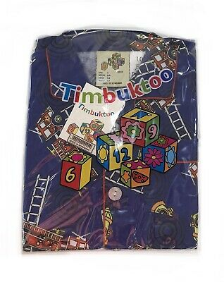 Timbuktoo Flanalette Children's Blue with Fire Engines  Pyjamas