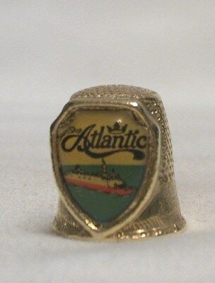 Starship Gold Color Pewter Thimble