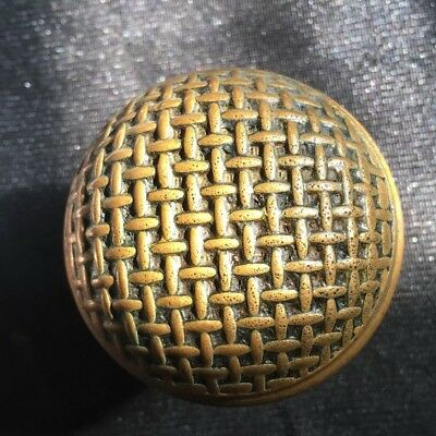 "Antique Russell & Erwin  2 1/4"" Diameter Collectible Dome Glittering Design"