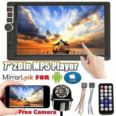 7'' Double DIN Car Stereo MP5 Head Unit Radio Touch Mirrors For GPS Navi Android