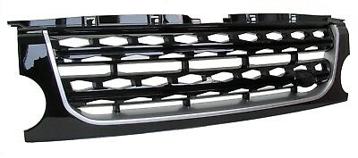 Discovery 3 Front grille - Land Rover Disco 4 2014 Facelift style (Black+Silver)