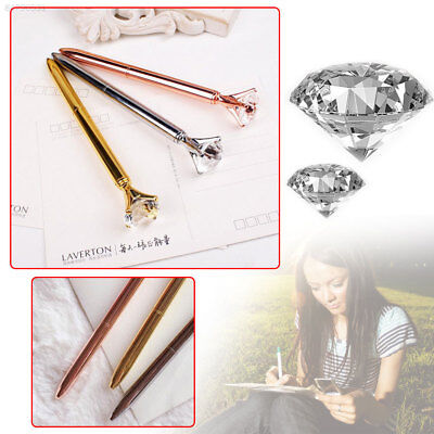 7EBC Creative Big Diamond Gem Crystal Ballpoint Pen Writing Stationery Office&Sc