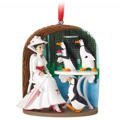 Disney Mary Poppins Jolly Holiday Penguins 2018 Sketchbook Christmas Ornament