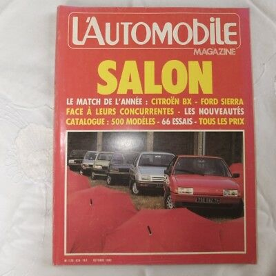 Revue L'Automobile Salon de l'Auto 1982
