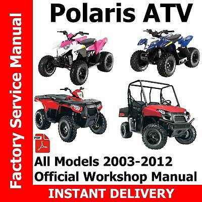 polaris forest tractor 500 efi sportsman 2012 workshop manua