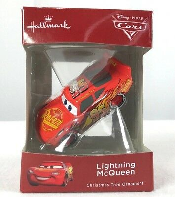 Hallmark 2018 Disney Pixar Cars Lightning McQueen Christmas Ornament New Red Box