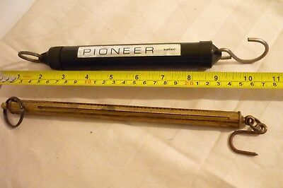 Vintage Salter Brass Scales 0-100 Troy and Other Pioneer Fish Scales.