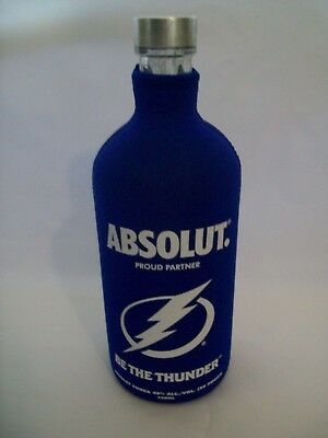 "Absolut Vodka 750ml Bottle Cover Tampa Bay NHL ""Be the Thunder"""