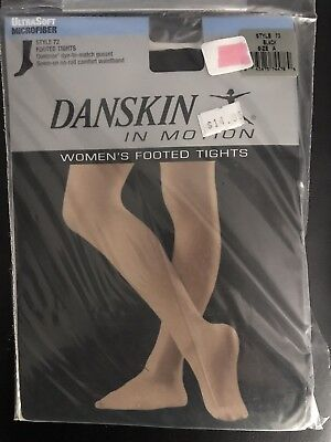 Danskin Style 72 Women's Microfiber Footed Tights Adult Black Size A