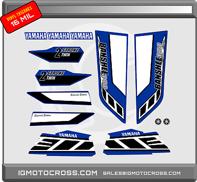 Yamaha Banshee full graphics kit special edition blue