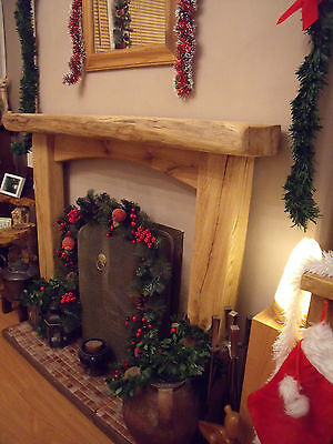 Oak Fireplace Surround, Solid Rustic Oak Beam, fireplace surround MADE 2 MEASURE