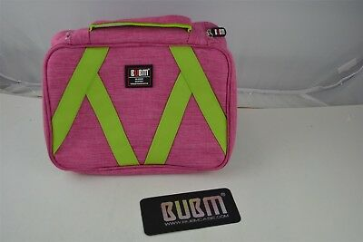 BUBM Hanging Toiletry kit, Rugged & Water Resistant & Sturdy Hanging Hook (pink)