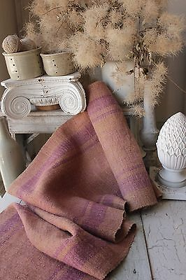 Hemp fabric Antique Table Stair runner Natural handwoven 4.2 yards dyed textile