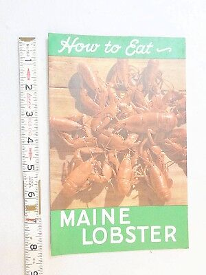 wayne buxton  how to eat a MAINE LOBSTER DEPT OF SEA & SHORE FISHERIES augusta