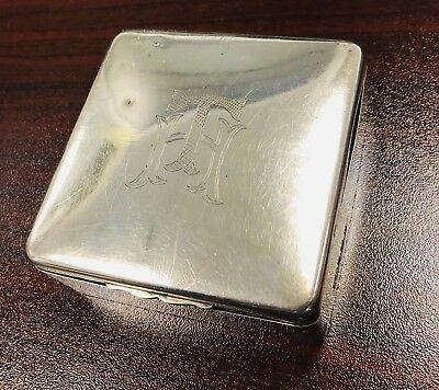 Sterling Silver Cigarette Box Art Deco Style - Birmingham 1932