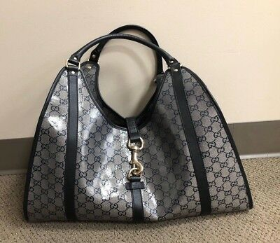 b40c6a6fe AUTHENTIC PRE-OWNED GUCCI Large Crystal Glossy Coated Joy Bag ...