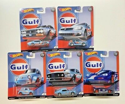 Hot Wheels 2019 Car Culture Gulf Racing Complete Set Of 5 Vw Mustang (In-Stock)